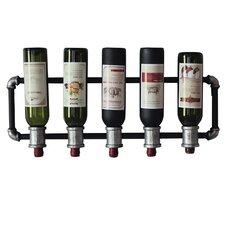 5 Bottle Wall Mounted Wine Rack