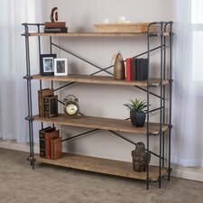 "Brookshire 65.5"" Accent Shelves Bookcase"