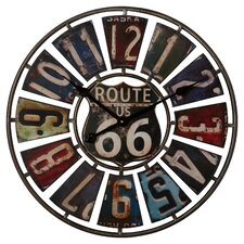 """Hazelwood Route 66 License Plate 22.75"""" Wall Clock"""