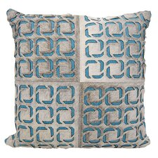 Agate Laser Squares Leather Throw Pillow