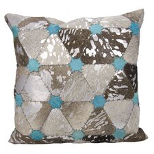 Agate Turquoise Stars Leather Throw Pillow
