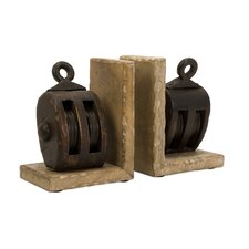 Pulley Book Ends (Set of 2)