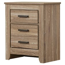 Orange 3 Drawer Nightstand