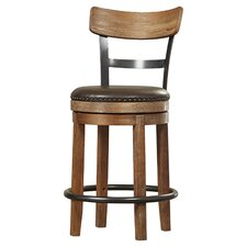 "Carmel 24.25"" Swivel Bar Stool (Set of 2)"