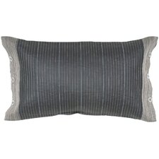 Cebo Horizontal Stripe Embed Silk Lumbar Pillow