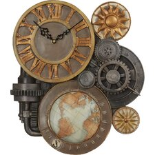Oakland Gears Sculptural Wall Clock