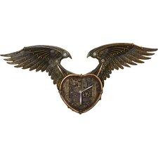 Winged Heart Sculptural Wall Clock