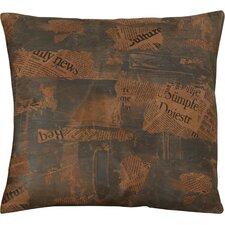 Dagon Faux Leather Throw Pillow