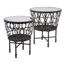 Clivden 2 Piece Drum End Tables Set