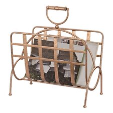 Sterling Industries Strapped Rose Gold Magazine Rack