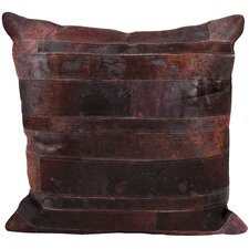 Chapelwood Natural Leather Hide Throw Pillow