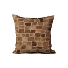 Dymalor Natural Leather Hide Throw Pillow