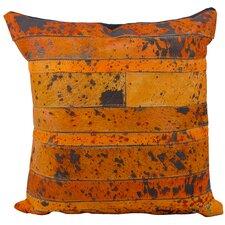 Charolais Natural Leather Hide Throw Pillow