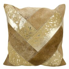Boquillas Natural Leather Hide Throw Pillow