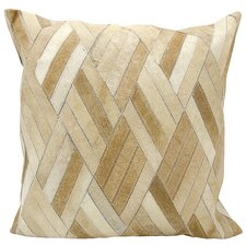 Cougar Cove Natural Leather Hide Throw Pillow
