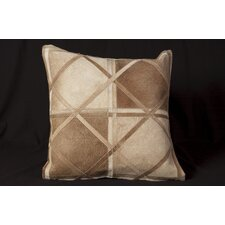 Chalsbury Natural Leather Hide Throw Pillow