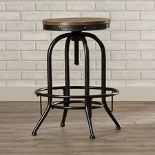 Carmel Adjustable Height Swivel Bar Stool (Set of 2)