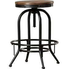 Carmel Adjustable Height Swivel Bar Stool (Set of 2)