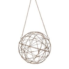 Aged Iron Wire Sphere Wall Decor