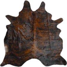 Morenci Natural Cowhide Dark Brindle Area Rug