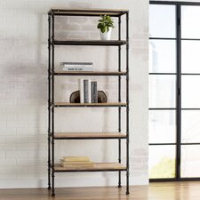 """Cudahy 72"""" Accent Shelves Bookcase"""