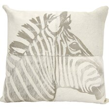 Braker Natural Leather Hide Throw Pillow