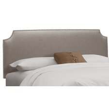 Cyd Nail Button Linen Upholstered Headboard