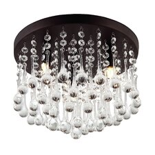 Mezzaluna 3 Light Flush Mount