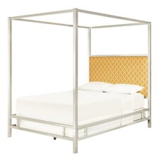 Chattel Panel Bed with Banana Upholstered Headboard