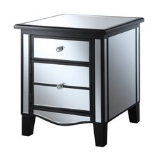 Halstead Mirrored End Table