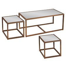Hardy Coffee Table with Nested Stools