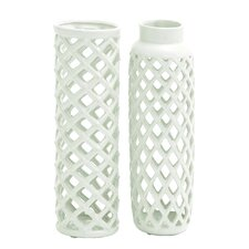Vivien 2 Piece Ceramic Vase Set