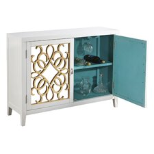 Wine Storage Mirrored Console