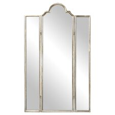 "Oliver 75"" x 44.5"" Mirror Screen 3 Panel Room Divider"