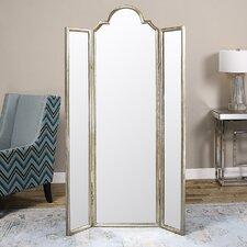 "Oliver 75"" x 44.5"" Mirror Screen 3 Panel Room Divider"