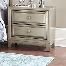 Margriete 2 Drawer Nightstand