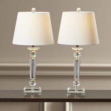 "Marlin 23"" H Table Lamp with Empire Shade (Set of 2)"