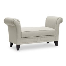 Chrystal Upholstered Two Seat Bedroom Bench