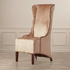 Tenbury Wells Faux-Silk Velvet Wing Chair