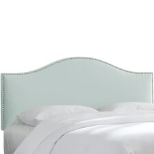 Brighton Nail Button Upholstered Arc Headboard