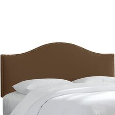 Brighton Nail Button Upholstered Arc Headboard