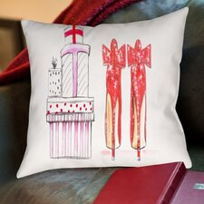 Alison B Xmas Red Shoe Gifts Throw Pillow