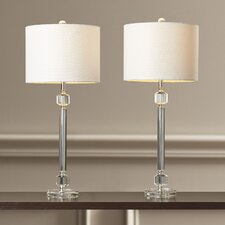 "Bawtry 26"" Table Lamp with Drum Shade (Set of 2)"