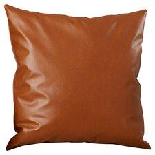 Natalie Faux Leather Throw Pillow