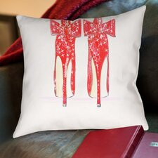 Alison B Red Shoe Throw Pillow