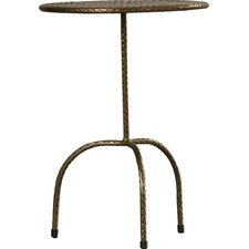 Industrial Chic Pedestal End Table