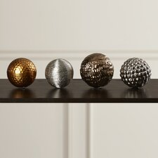 Micheroux 4 Piece Decorative Ball Sculpture Set