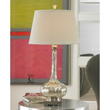 """Evelyn 33"""" H Table Lamp with Empire Shade"""