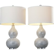 "Columbia 24"" H Table Lamp with Drum Shade (Set of 2)"