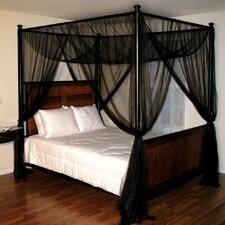Corene Palace 4-Post Bed Sheer Panel Canopy Net